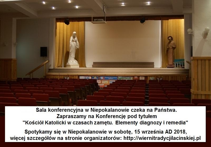 Konferencja w Niepokalanowie, 15 września 2018